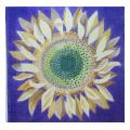 Sunflower with Blue Background Floral Needlepoint Canvas