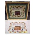 Red House Sampler Needlepoint Canvas