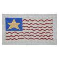 Fun US Flag Needlepoint Canvas