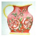Red Rose Pitcher Needlepoint Canvas