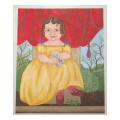 Young Girl Portrait Needlepoint Canvas