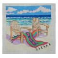 Beach Chairs and Towel Needelpoint Canvas