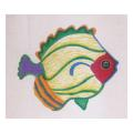 Yellow and Green Fish Needlepoint Canvas