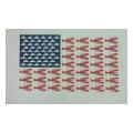 Nautical US Flag with Lobsters Needlepoint Canvas
