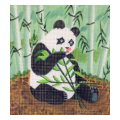 Panda Eating Bamboo Needlepoint Canvas